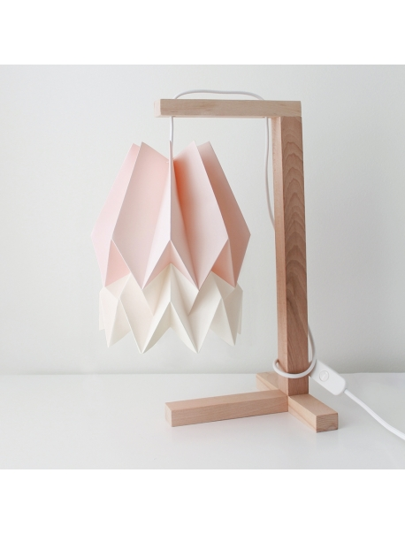 Table Lamp Pastel Pink with Polar White Stripe