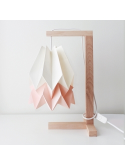 Table Lamp Polar White with Pastel Pink Stripe