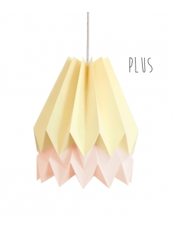 PLUS Pale Yellow with Pastel Pink Stripe
