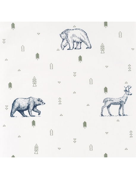 Papel Grizzly Bears Blue